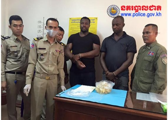 Two Nigerian Men Caught At The Cambodian Airport with  Injested 1.27 Kilograms Cocaine